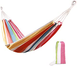 REDCAMP Single Cotton Hammock with 2 Straps, 39
