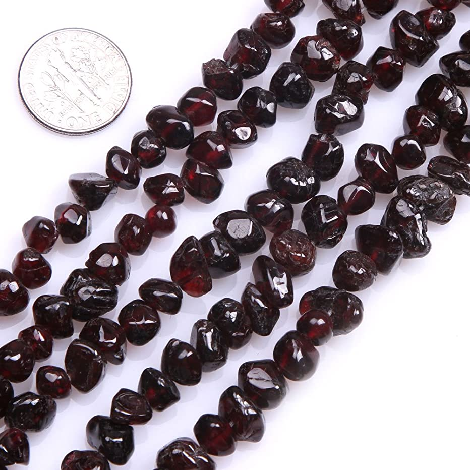 GEM-inside Natural Garnet Chips Gemstone Beads 7-8mm Freeform Crystal Beads for Jewelry Making Jewelry Beading Supplies for Women