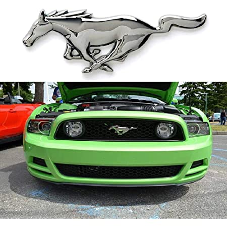 L U Car Styling Metal 3d Mustang Horse Front Cover Grille Emblem Sticker Running Horse Sticker For Ford Mustang Shelby Gt Küche Haushalt