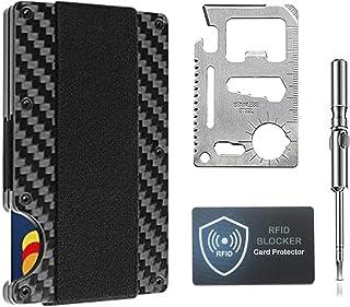 Minimalist Carbon Fiber Wallet, Slim Wallet & RFID Blocking Front Pocket Wallet - Credit Card Holder