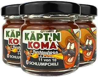 """Schlump-ChiliKäpt""""n Koma Dreierpack Set Schärfste Chili Paste mit Carolina Reaper und Ingwer ULTRA SCHARF! 3 x 35g"""