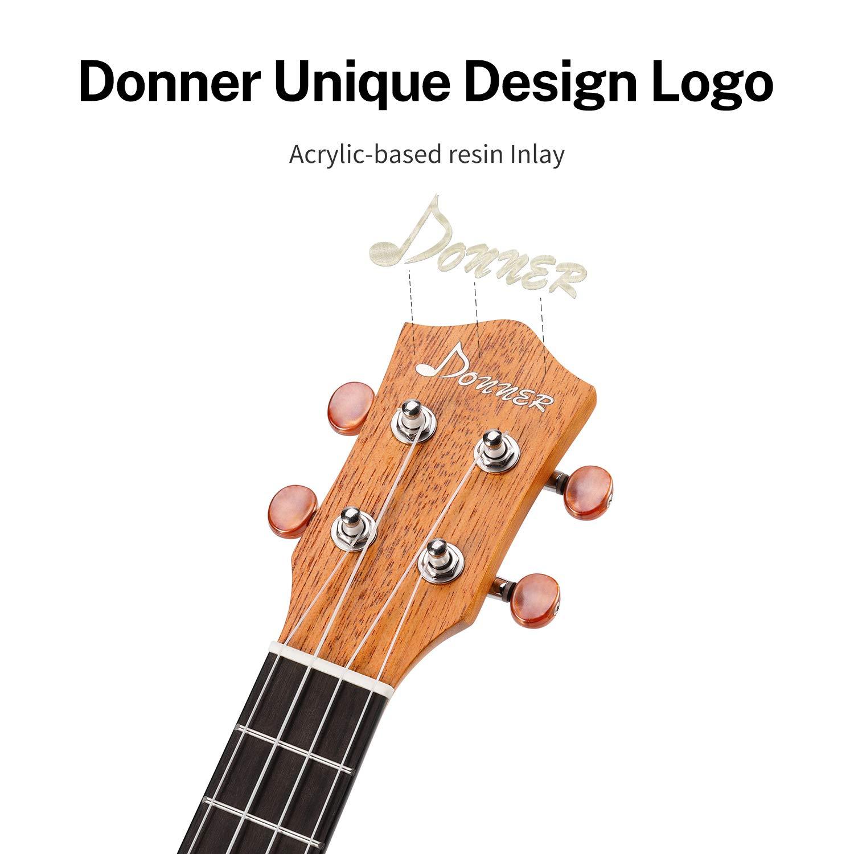 Ukelele Donner de madera de caoba: Amazon.es: Instrumentos musicales