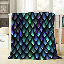 BJOLEdS Reptile Skin Throw Blanket 3D Seamless Texture of Dragon Scales Extra Soft Warm Lightweight Cozy Flannel Plush Blankets for Bedding Sofa Couch 48 X 60 Inch