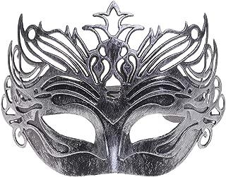 LIOOBO Halloween Masks Imitation Antique Crown Plastic Half Face Mask Party Decoration Ball Mask for Ball Masquerade Party Halloween Decorations
