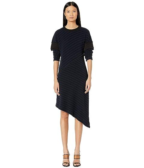 MM6 Maison Margiela Asymmetrical Hem Sweater Dress