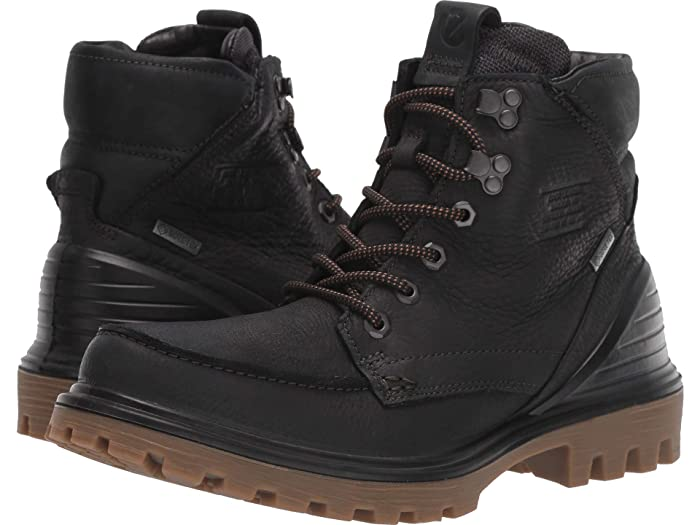 ECCO  Tred Tray GORE-TEX Moc Boot (Black/Black) Mens  Boots