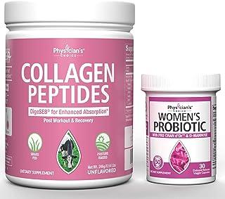 Collagen Peptides Powder - Enhanced Absorption + Prebiotics & Probiotics for Women - Clinically Proven ProCran