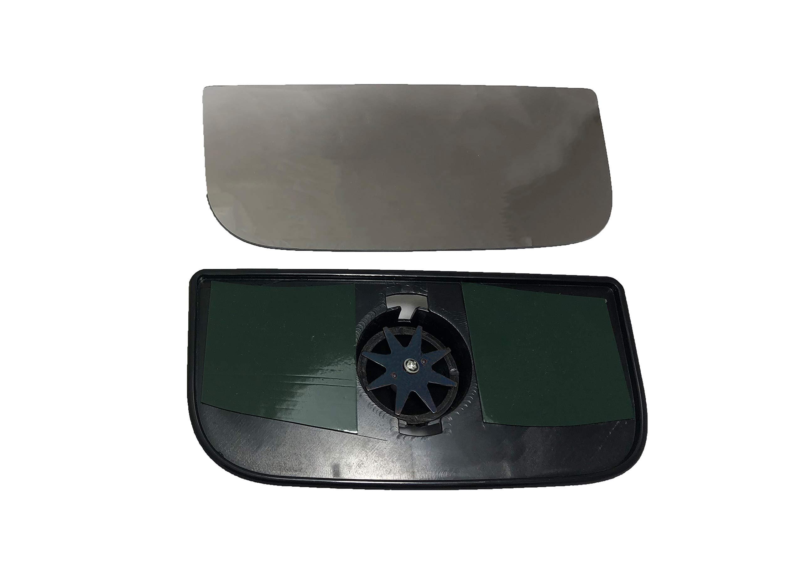 Upper Flat WLLW Mirror Glass for Chevy GMC C//K Pickup Tahoe Blazer Silverado Sierra Yukon Avalanche Escalade Driver Side