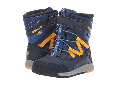 Merrell Kids Snow Crush Jr Waterproof (Toddler) (Navy/Saffron) Boys Shoes