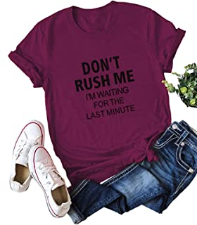 SheIn Women's Casual Short Sleeve Letter Print Tee Top