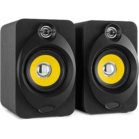 """VONYX XP40 Enceintes Monitoring – Paire d'enceintes de Studio 4"""", Puissance 80 Watts, Connexion sans Fil Bluetooth, Port USB, Qualité Professionnelle idéale pour Mastering en Studio"""