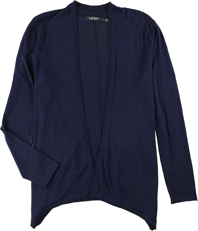 Ralph Lauren Womens Ls Cardigan Sweater Rlnavy Xl