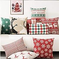 Kridhay Natura Life Velvet Decorative Throw Pillow/Cushion Covers (Multicolour, 24 x 24 inch) - Set of 7