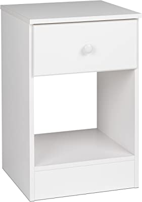 Prepac Astrid Tall 1 Drawer Nighstand, White