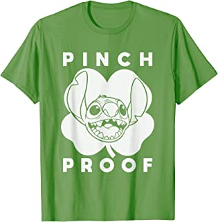 Disney Stitch Green Shamrock Pinch Proof St. Patrick's Day T-Shirt