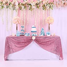 BalsaCircle TRLYC 60 x 102-Inch Rectangular Sequin Tablecloth Rose Pink for Wedding Party Christmas Day-Rose Pink