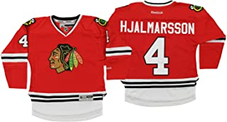 NHL Little Boys Chicago Blackhawks Niklas Hjalmarsson #4 Player Jersey, Red, 4-7