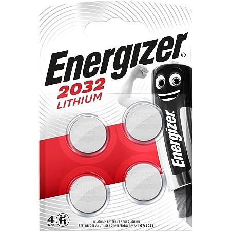 Energizer CR2032 - Pack de pilas de litio - 3V - 4 unidades, Multicolor