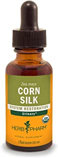 Herb Pharm Certified Organic Corn Silk Liquid Extract for Urinary System Support , 1 Fl Oz (Pack of 1)