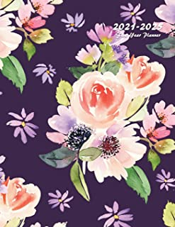 2021-2025 Five Year Planner: 60-Month Schedule Organizer 8.5 x 11 with Floral Cover (Volume 5)