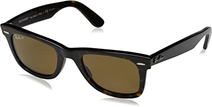 Ray-Ban RB2140 Original Wayfarer Icons Polarized Sunglasses, Tortoise/Brown, 50mm