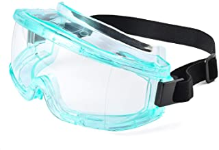 SAFEYEAR Anti Fog Safety Goggles- Scratch Resistant & UV Protection HD Safety Glasses for Men,Eye Impacted Protective Work Goggles Over Spectacles for DIY, Lab, Welding, Grinding, Cycling (Blue)