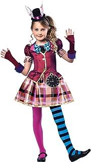 Disfraz de Srta. Sombrerera para niños de 5 a 6 años