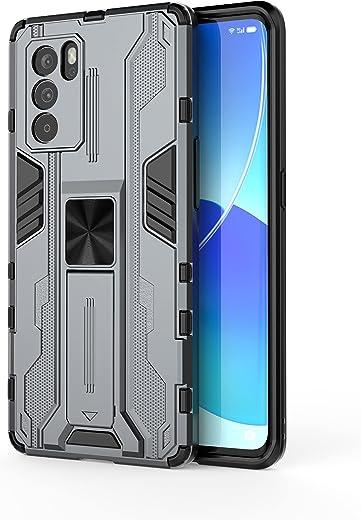 جراب Samsung Galaxy F52 5G، جراب واقٍ متين ومتين ومقاوم للصدمات مع مسند، جراب واقٍ مضاد للصدمات لهاتف Samsung Galaxy F52 5G-gray