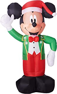gemmy industries inflatable mickey with santa hat 5