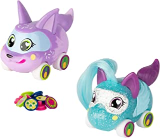 Tomy Ritzy Rollerz Toy Cars for Girls with Surprise Charms, Frenchy Braid & Donut Dani Besties (2 Pack)