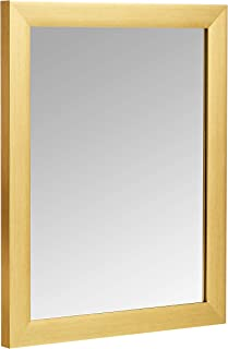 AmazonBasics Rectangular Wall Mirror 41 x 51 cm - Standard Trim, Brass