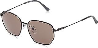 Calvin Klein Unisex Sunglasses Square Ck American Essentials Satin Black