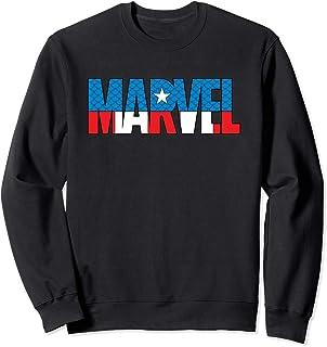Marvel Brick Logo in Captain America Colors Sweatshirt