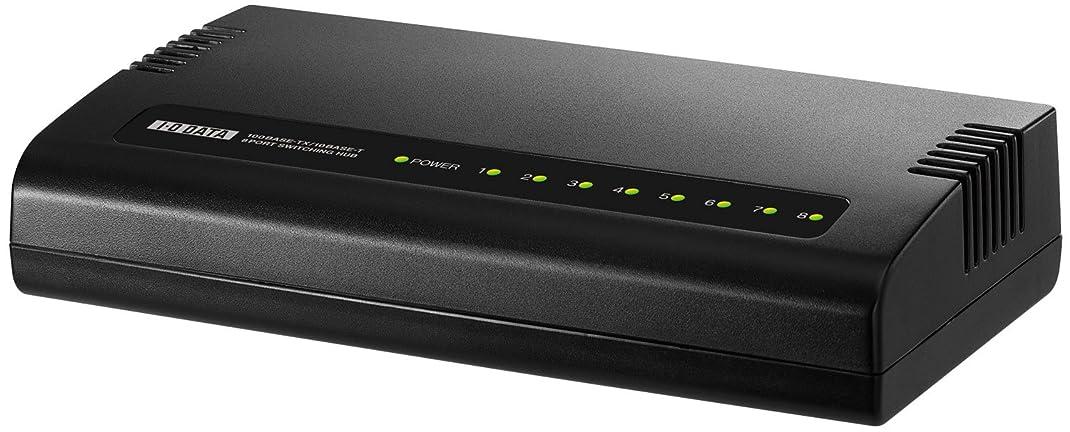 I-O DATA 1000BASE-T対応 省電力機能つき 8ポートスイッチングハブ ブラック ETG-ESH08K2