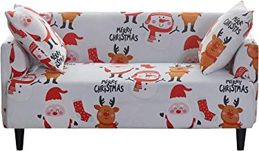 JUMJEE Printed Couch Cover Stretch Sofa Cover Sofa Slipcover Christmas Decoration Furniture Cover Protector for Couches an...