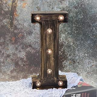LEDIARY Light up Letters, Halloween Lights Battery Powered, Soft White Night Light for Wall Decor - Letter H