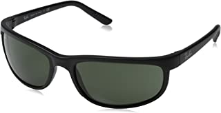 Ray-Ban RB2027 Predator 2 Icons Sports Sunglasses - Black/Matte Black/Crystal Green/G-15 XLT/One Size Fits All