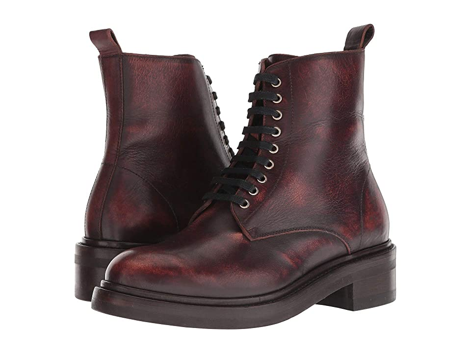 Frye Alice Combat Zip (Wine) Women