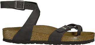 Womens Yara Black Oiled Leather Sandals,39 Regular EU