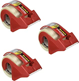 Scotch Reinforced Strength Shipping and Strapping Tape in Dispenser, 3 Pack