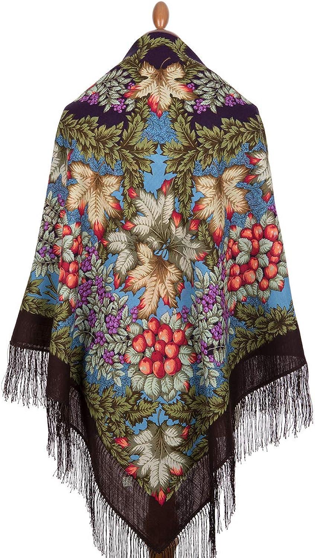 Pavlovo Posad Russian Shawl 100% Wool 57x57  146x146 cm Scarf Silk Tassels 181317