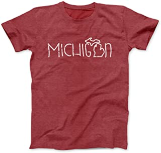 Nudge Printing Michigan Doodle (Small, Cardinal Red)