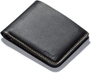 LIGHT - Bifold Wallet Slim Minimalist Full Grain Leather Flat Bills Cards