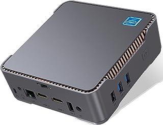 ミニpc Windows 10 Pro 8GB RAM 128GB SSD 小型 パソコン インテル Celeron N3350 (最大2.4GHz) プロセッサー、3画面同時出力可能 デスクトップ コンピューター、4K HD、Bluetoot...