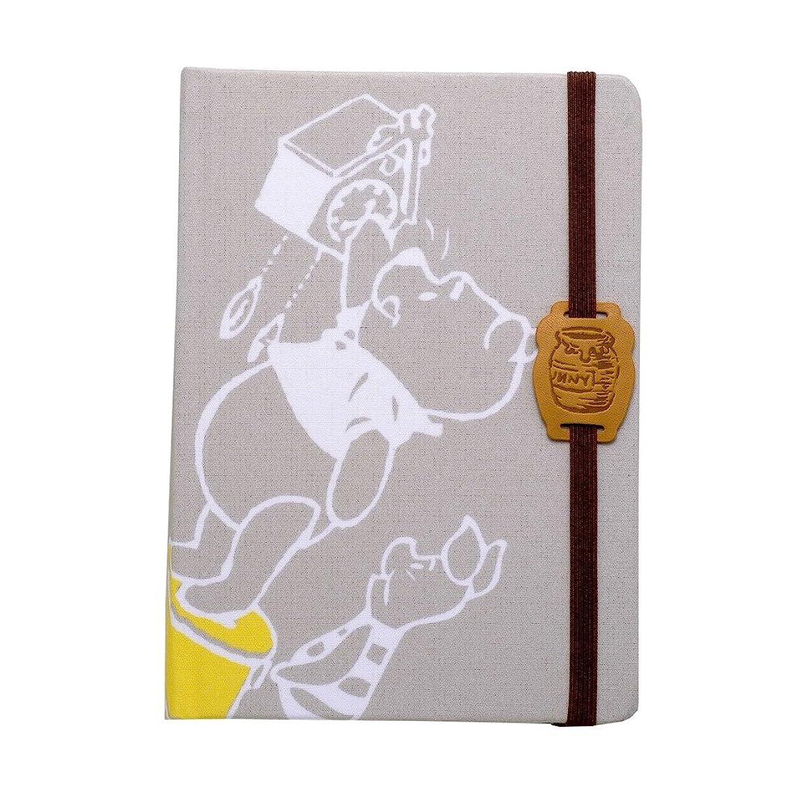 サンスター文具 ディズニー 布貼上製本ノートB6 くまのプーさん 時計 S2623781
