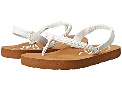 Roxy Kids Cabo (Toddler) (White) Girls Shoes