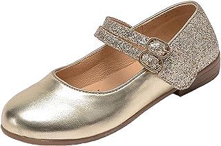 PPXID Fille Chaussures de Ballerine Princesse Mary Jane pour Cérémonie Mariage