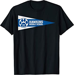 Netflix Stranger Things Hawkins Middle School Pennant T-Shirt