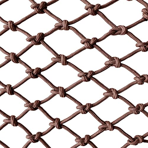 ZGQSW Corde Filet Marron, Filet De Securite pour Enfants Decoration Deco D'escalier Nette Anti-Chute Tissee Filet Nette Escalade Hamac Prougeection Filet 3m4m (Taille   2  9m)