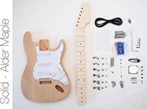The FretWire DIY Electric Guitar Kit - ST Style Build Your Own Guitar Alder Body Maple Neck